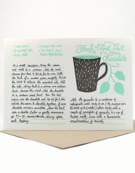 Mint Hot Chocolate recipe card
