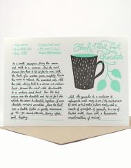 Mint Hot Chocolate recipe card