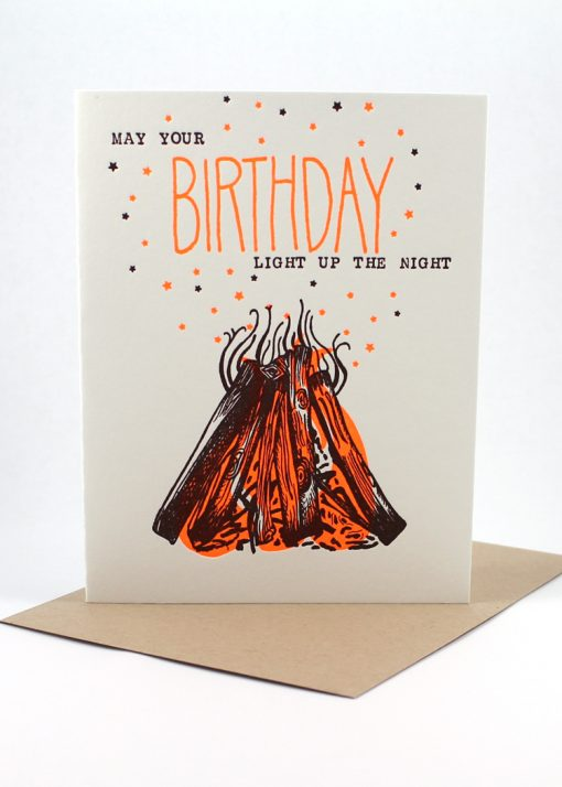 May your birthday light up the night card