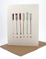 Hand drawn arrows, blank card