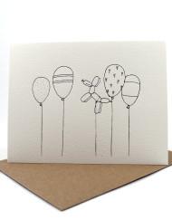 Silver foil balloons card