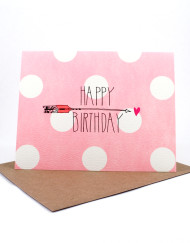 Polka dot Happy Birthday card