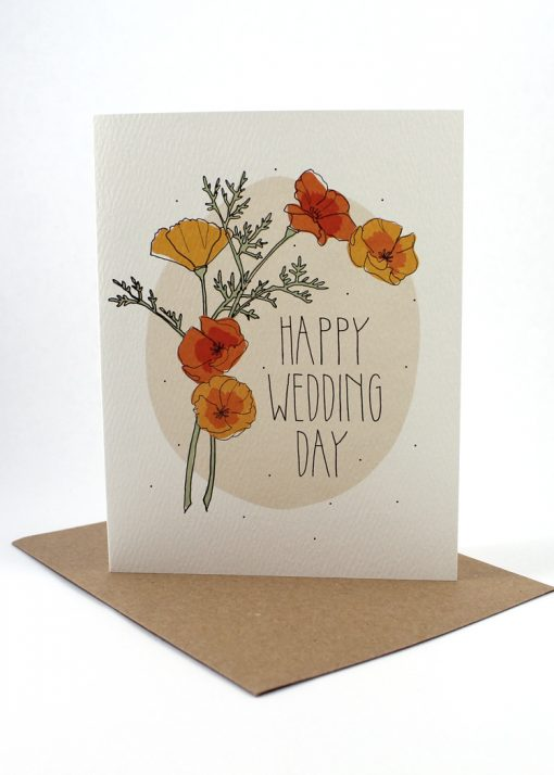 Floral Happy Wedding card