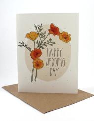 Floral Happy Wedding card