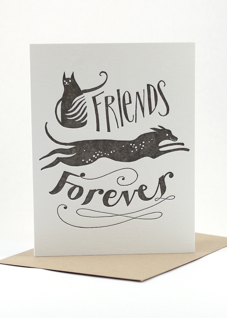 friends forever sympathy card sent well