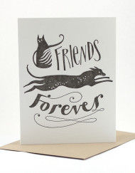 Friends Forever, pet sympathy card