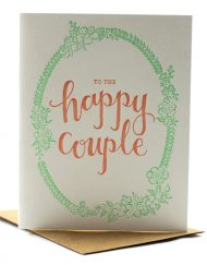 To the happy couple, wedding card