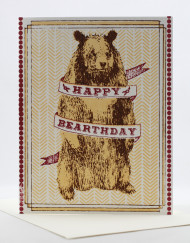 Happy Bearthday card with bear