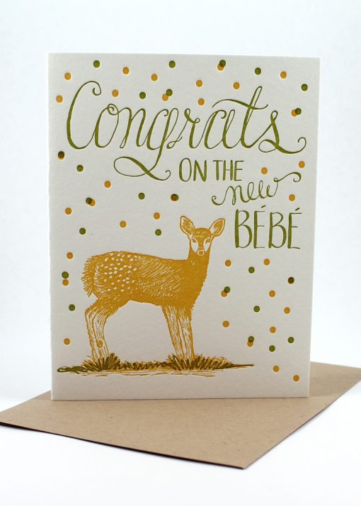 Congrats new bebe card
