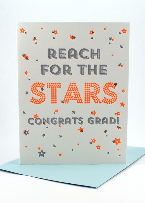 Reach for the stars, congrats graduate card
