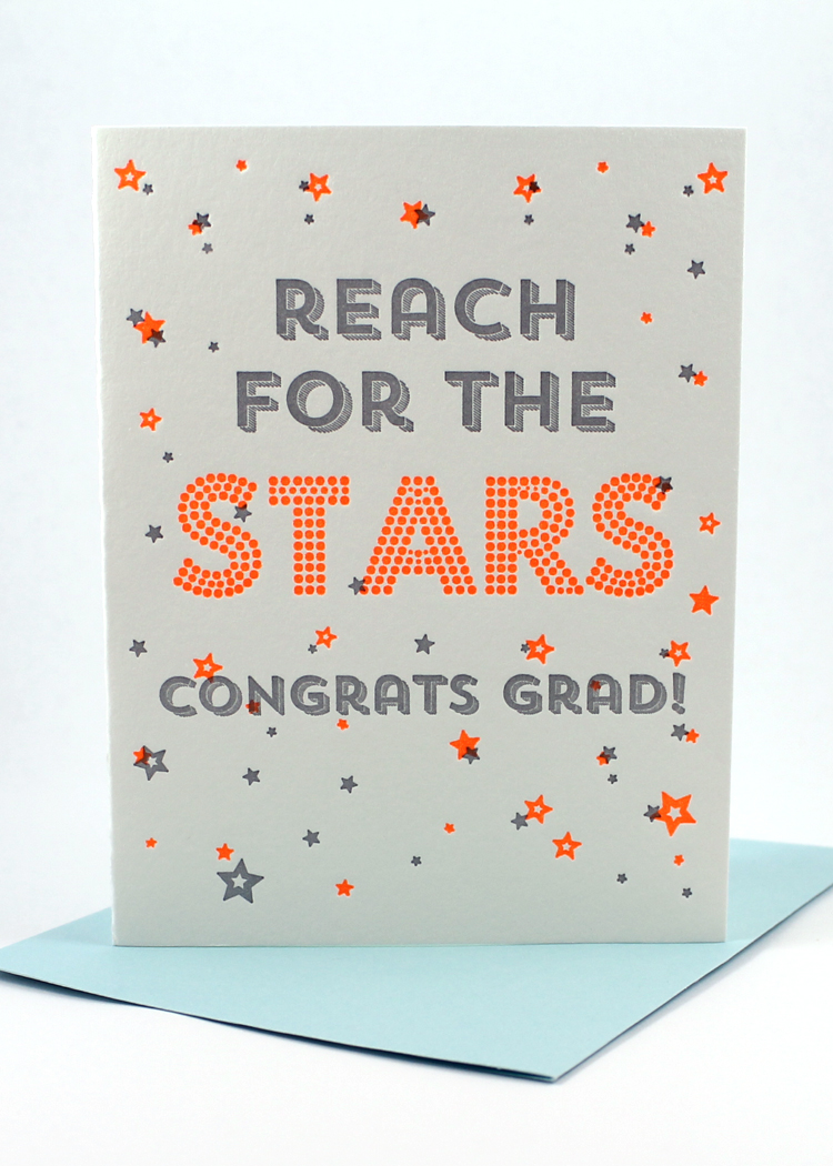 stars graduation card sent well