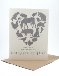 Sending lots of love, pet sympathy card