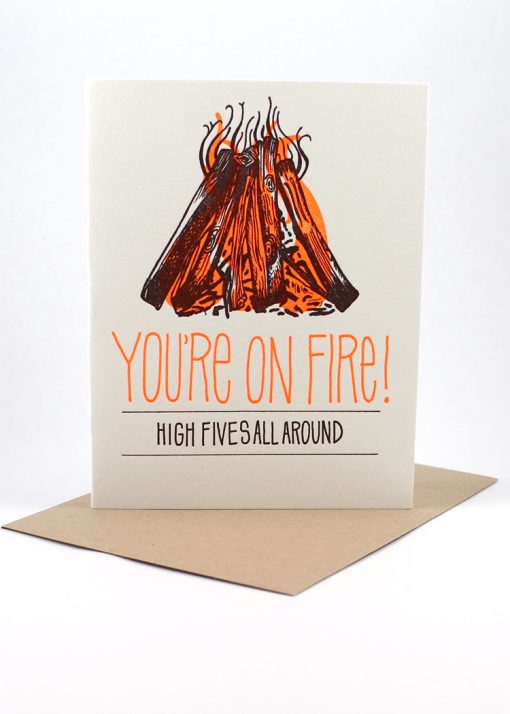 You're on fire! congrats card
