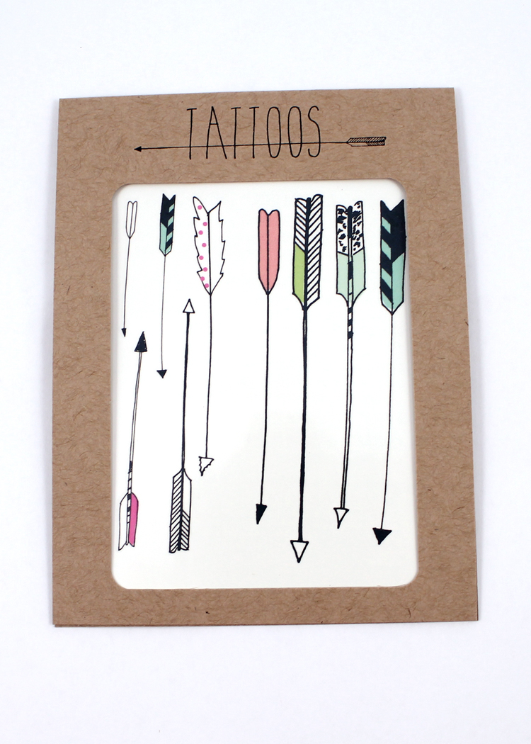 Temporary Tattoos – Arrow Series