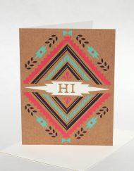 "Southwest motif ""Hi"" card"