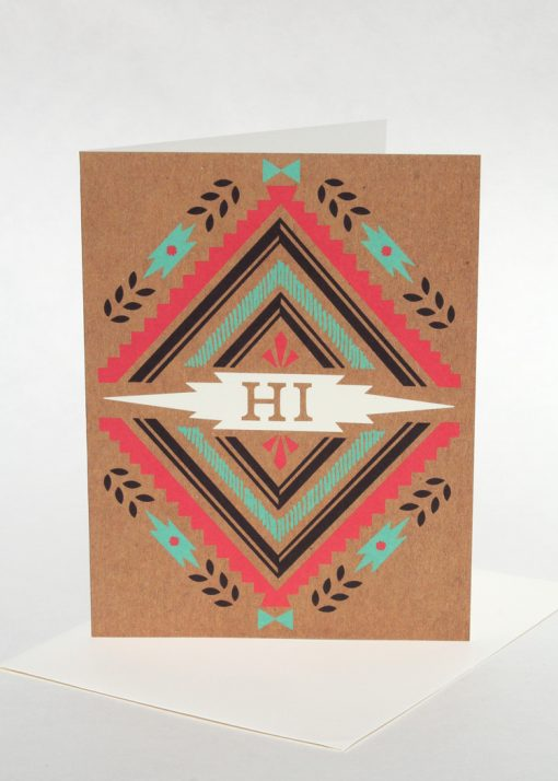 "Southwest motif ""Hi"" card"