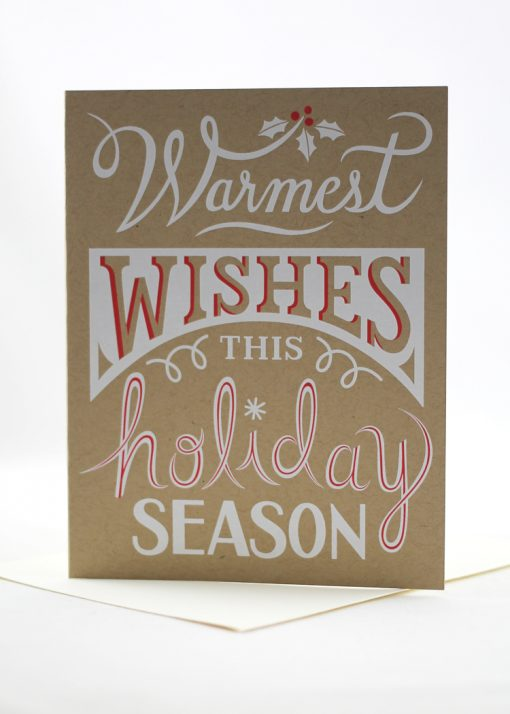 Warmest wishes this holiday season card