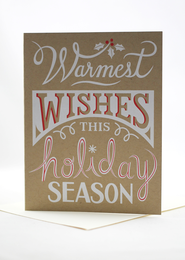 6ede7dc5d Warmest wishes this holiday season card