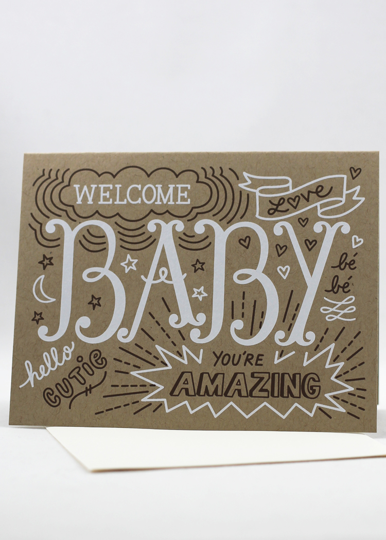 6b3025eb2 Welcome Baby card - Sent Well