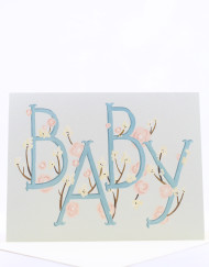 Hand painted baby card
