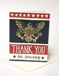 Thank you for serving, military card