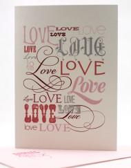many font styles love card