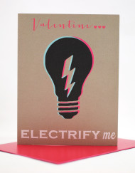 Valentine electrify me card
