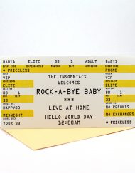 Rock a bye baby card
