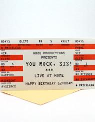 concert ticket card