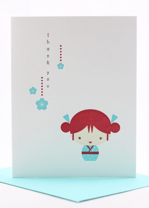 japanese inspired thank you card