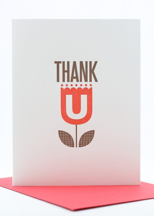 thank you card with tulip