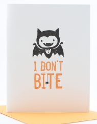 Halloween card, I don't bite