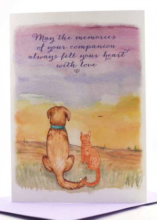 Watercolor Pet Sympathy Cards for Sale