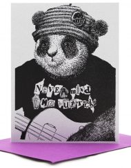 punk panda friend card
