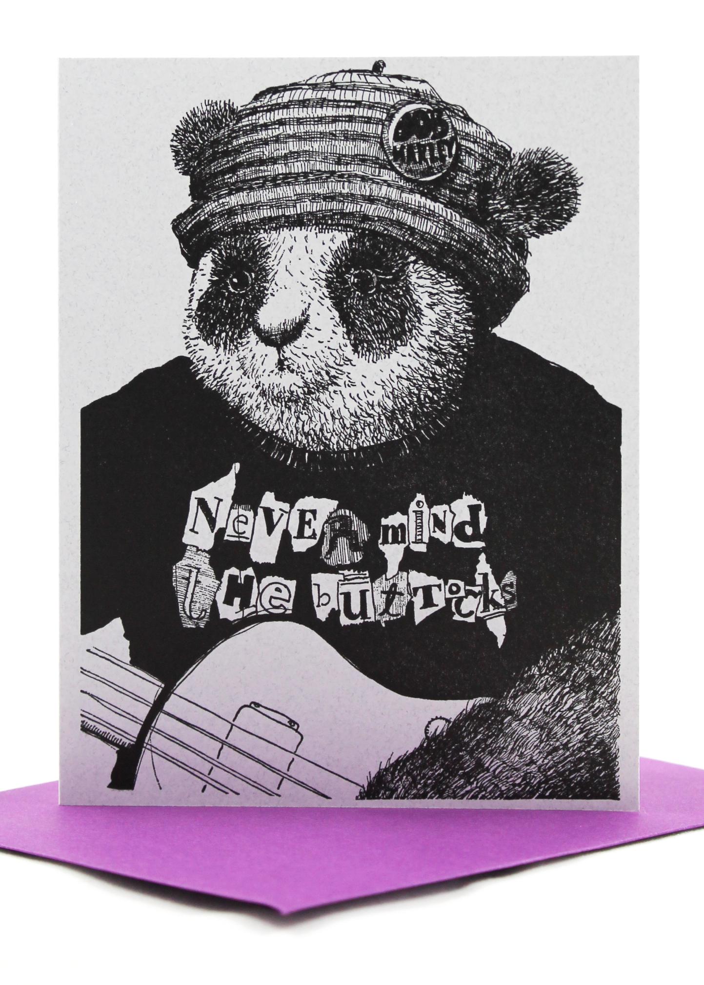 punk panda friend card