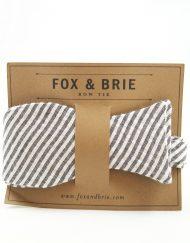 Fox & Brie seersucker bowtie