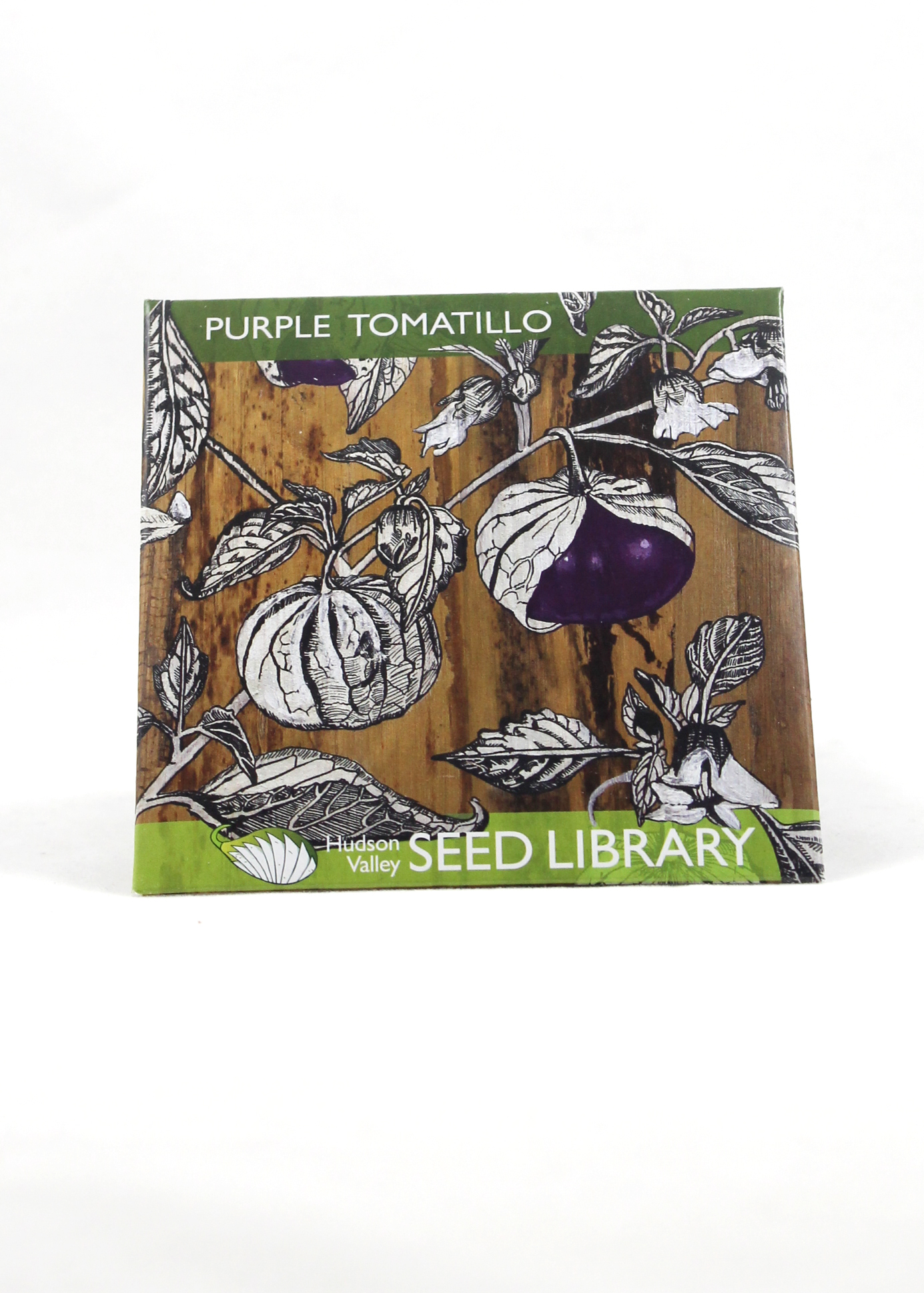 purple tomatillo seed packet
