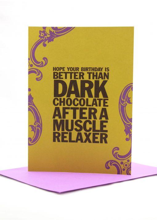 birthday is better than dark chocolate