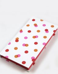 polka dot hard cover notebook