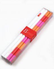 polka dot and stripe pencil set