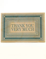 wooden postcard thank you
