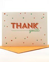 Thank You letterpress card