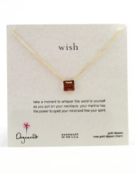 "Dogeared necklace ""wish"" rose gold"