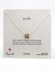 "Dogeared necklace ""wish"" sterling silver"