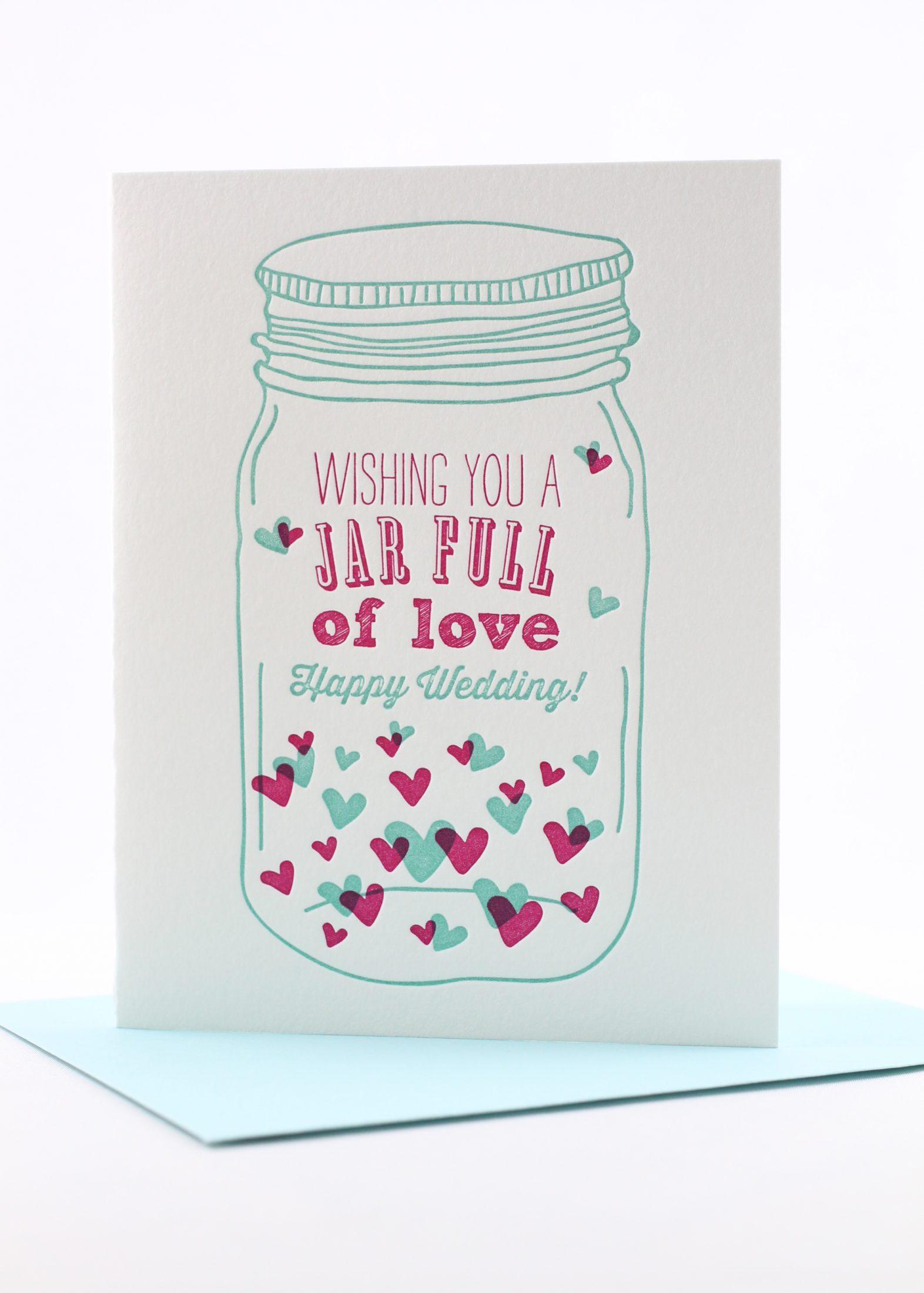 mason jar wedding card