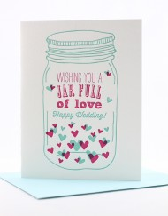 mason jar wedding card