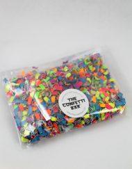 neon multi colored confetti pack