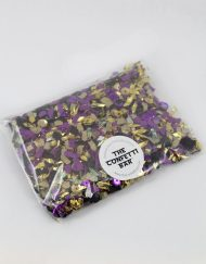 purple and gold confetti pack