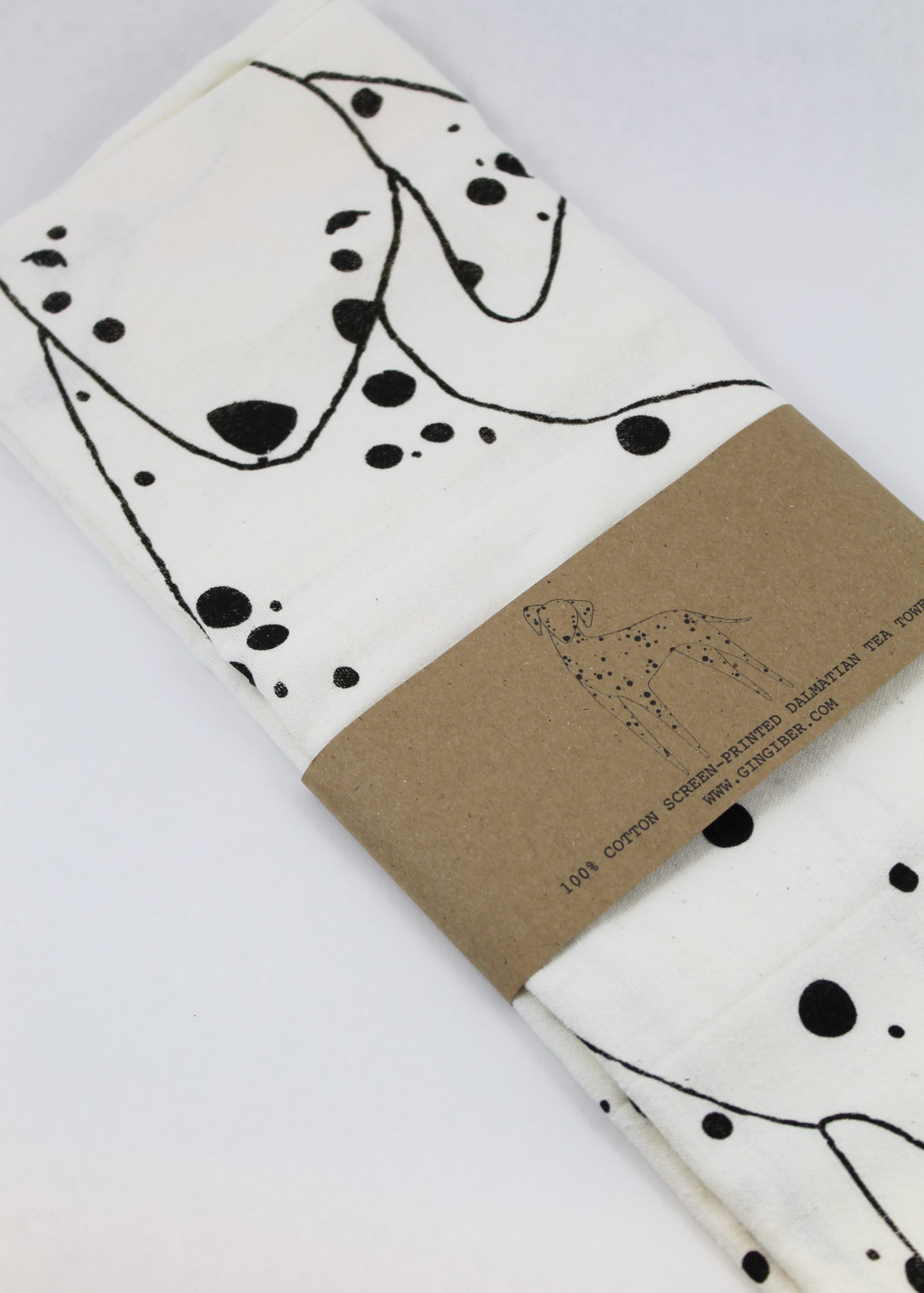 dalmatian printed tea towel