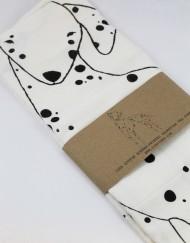 dalmatian printed tea towel